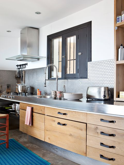 Countertop, Furniture, Cabinetry, Room, Kitchen, Property, Interior design, Building, Home, Tile,