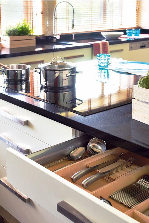 muebles de cocina con cajones
