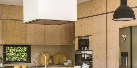 Room, Interior design, Table, Furniture, Dishware, Khaki, Light fixture, Interior design, Kitchen, Tablecloth,