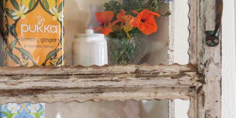 Product, Shelf, Mason jar, Bottle, Flower,