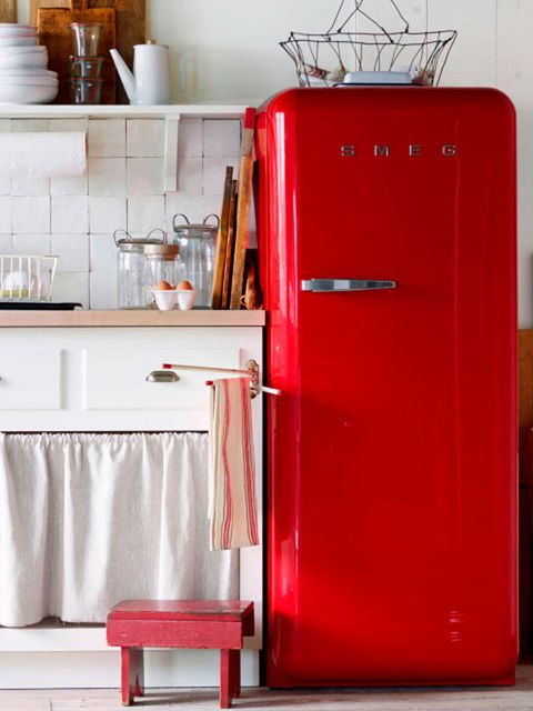 Red, Serveware, Major appliance, Dishware, Kitchen appliance, Shelving, Maroon, Gas, Material property, Shelf,