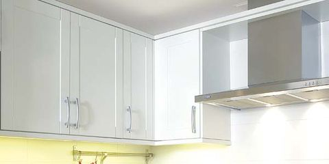 Room, White, Kitchen, Major appliance, Kitchen appliance, Home appliance, Kitchen stove, Interior design, House, Stove,