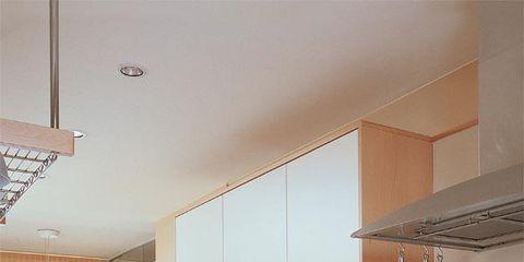 Room, Interior design, Floor, Ceiling, Countertop, Kitchen, Cabinetry, Interior design, Home, Kitchen appliance,