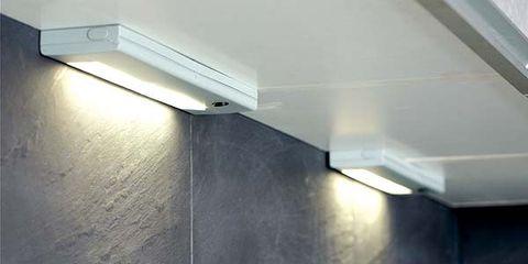 Plumbing fixture, Room, Wall, Ceiling, Tap, Light fixture, Sink, Plumbing, Composite material, Material property,