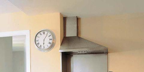 Wood, Room, Furniture, Interior design, Table, Floor, Cupboard, Wall clock, Cabinetry, Interior design,