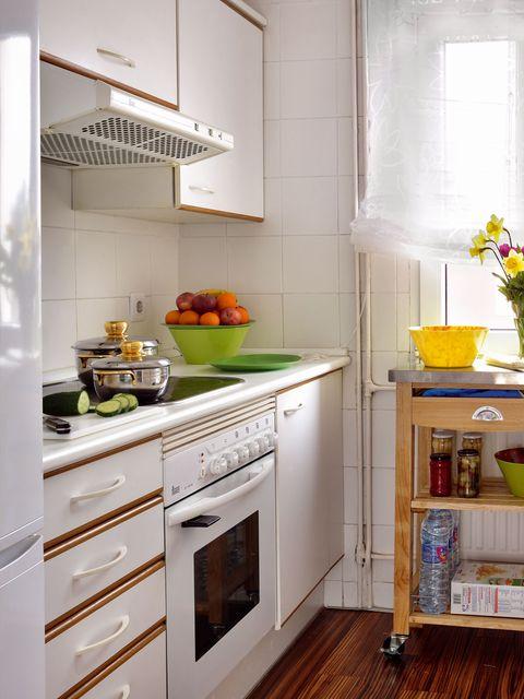 Room, Wood, Interior design, Home, Drawer, Floor, Cabinetry, Major appliance, Kitchen, Fixture,