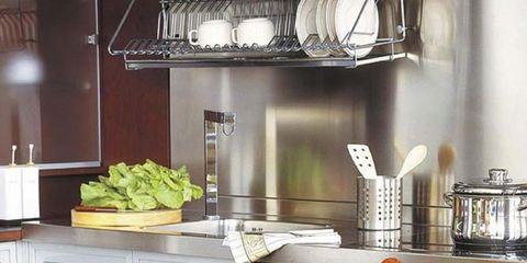 Dishware, Countertop, Serveware, Tableware, Kitchen, Cabinetry, Grey, Kitchen appliance, Kitchen appliance accessory, Kitchen utensil,