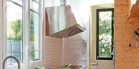 Room, Property, Plumbing fixture, Interior design, Kitchen sink, Tap, Kitchen, House, Countertop, Sink,
