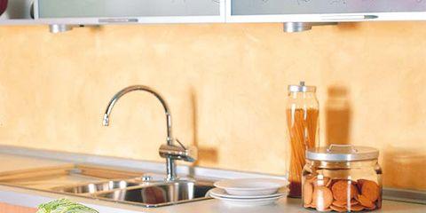 Plumbing fixture, Room, Tap, Countertop, Leaf vegetable, Kitchen, Whole food, Kitchen sink, Sink, Natural foods,