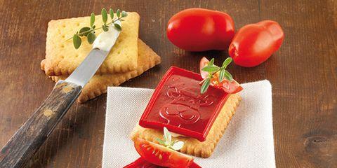 Food, Ingredient, Finger food, Rectangle, Cuisine, Hardwood, Wood stain, Home accessories, Dish, Vegan nutrition,