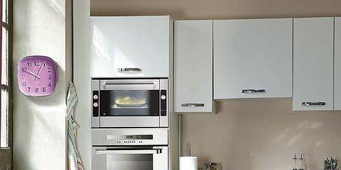 Room, Floor, Interior design, White, Major appliance, Kitchen appliance, Kitchen, Home appliance, Flooring, Kitchen stove,