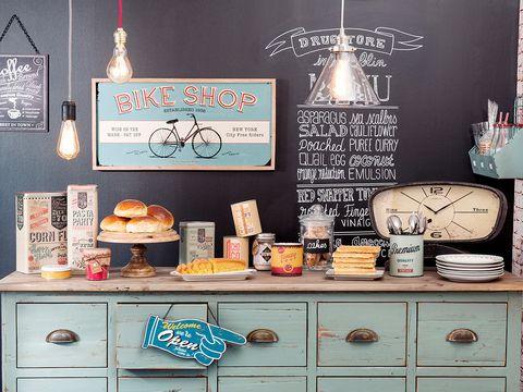 Drawer, Peach, Cabinetry, Teal, Sideboard, Dresser, Serveware, Dishware, Recipe, Baked goods,