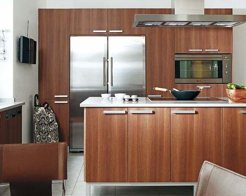 Room, Interior design, Cupboard, Cabinetry, Glass, Countertop, Interior design, Fixture, House, Home appliance,