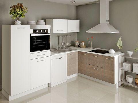 Cocinas peque as c mo aprovechar el espacio - Cocinas pequenas en forma de ele ...
