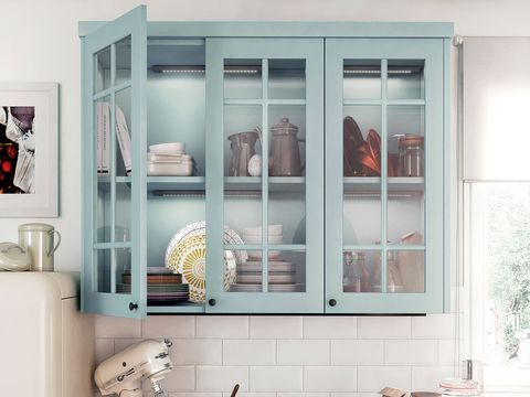 Room, Interior design, Wall, Interior design, Fixture, Teal, Turquoise, Display case, Peach, Natural material,