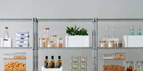 Shelf, Shelving, Furniture, Room, Orange, Cabinetry, Interior design, Display case,