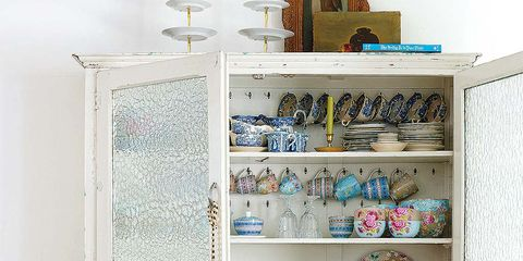Teal, Aqua, Shelving, Turquoise, Shelf, Peach, Door, Collection, Creative arts, Hutch,