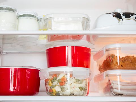Food storage containers, Shelf, Plastic, Take-out food, Food, Dish, Cup, Lid, Cuisine, Mason jar,