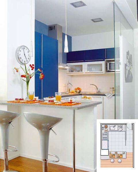 caminar en la cocina despensa ideas de diseño Planifica Bien El Espacio De Tu Cocina Ejemplos Con Planos