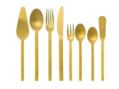 Product, Yellow, Line, Cutlery, Metal, Dishware, Steel, Symmetry, Kitchen utensil, Household silver,