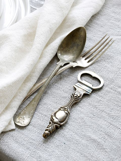 Photograph, Cutlery, Dishware, Tableware, Kitchen utensil, Grey, Metal, Household silver, Natural material, Silver,