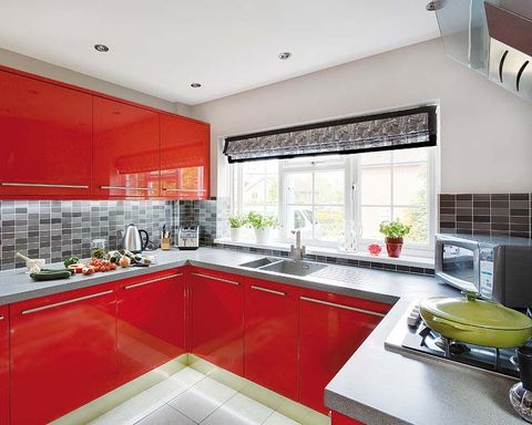 Room, Interior design, Green, Property, Floor, Plumbing fixture, Kitchen, Interior design, Kitchen sink, Ceiling,