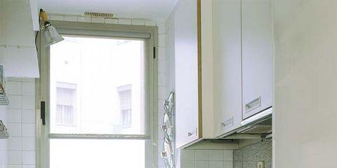 Floor, Room, Property, Interior design, Major appliance, Glass, Flooring, Kitchen appliance, House, Kitchen stove,