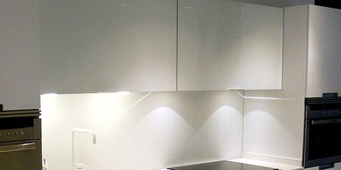 Product, Room, Property, Major appliance, Floor, White, Line, Interior design, Kitchen, Flooring,