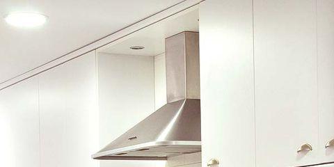 Green, Room, Kitchen, Produce, Leaf vegetable, Light fixture, Grey, Vegetable, Food group, Interior design,