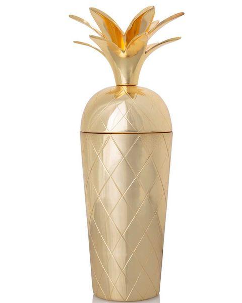 Coctelera dorada forma de piña