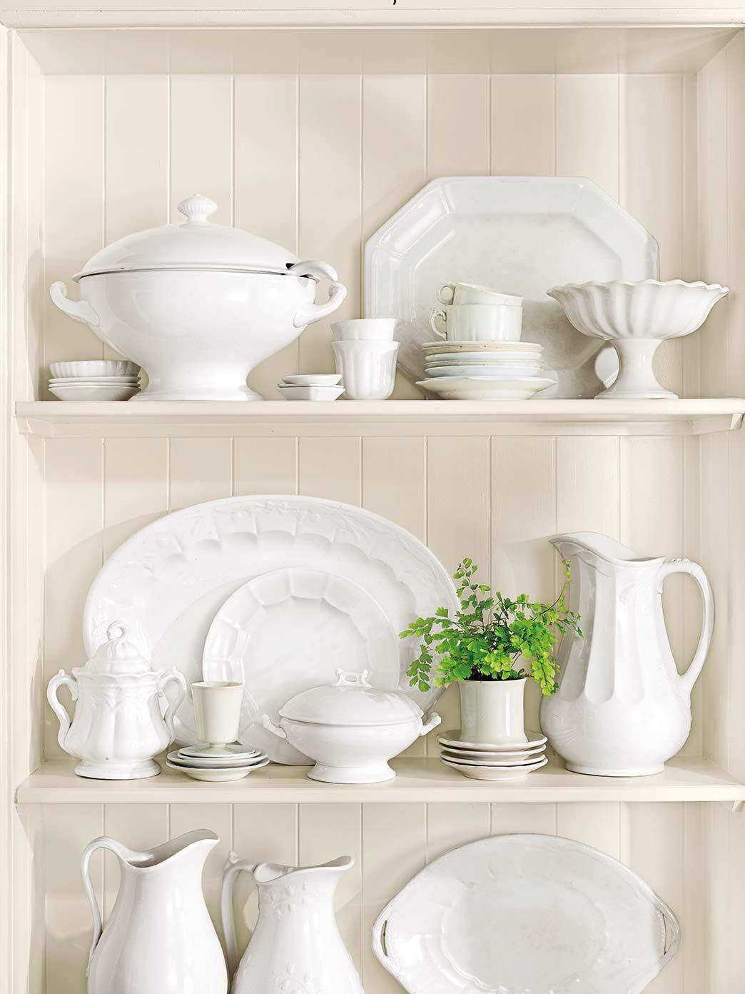 Vajilla de porcelana blanca