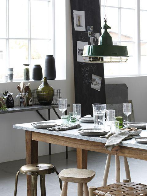 Room, Interior design, Table, Furniture, Glass, Interior design, Bar stool, Stool, Serveware, Home accessories,