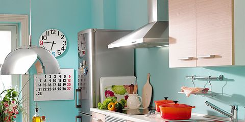 Room, Kitchen, Major appliance, Interior design, Countertop, Home appliance, Interior design, Kitchen appliance, Cabinetry, House,