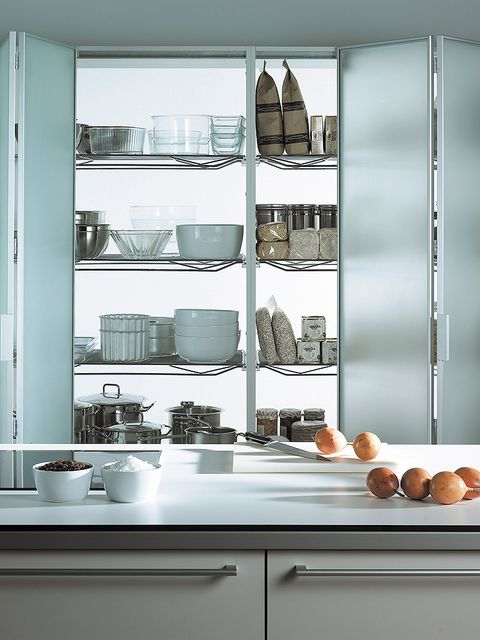 White, Room, Kitchen, Glass, Grey, Cabinetry, Major appliance, Kitchen appliance accessory, Home appliance, Dishware,