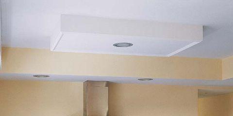 Room, Plumbing fixture, Ceiling, Interior design, Kitchen, Floor, Light fixture, Countertop, Kitchen sink, Sink,