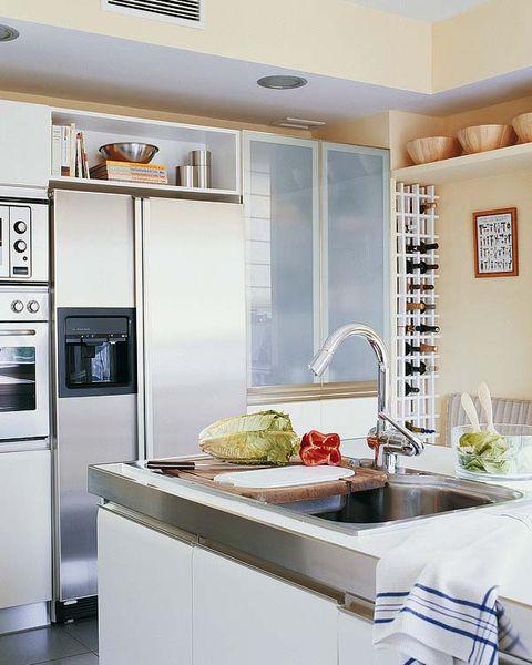 Room, Interior design, Property, Countertop, White, Floor, Ceiling, Interior design, Light fixture, Kitchen,