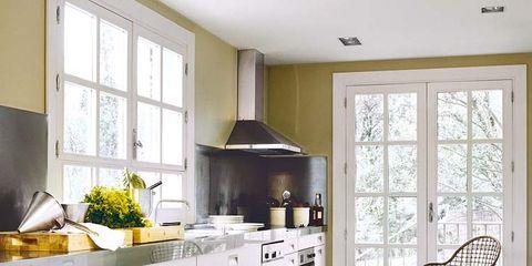 Room, Interior design, Green, Floor, Property, White, Home, House, Flooring, Drawer,