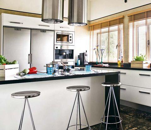 Interior design, Bar stool, Room, Floor, Interior design, Fixture, Stool, Countertop, Flowerpot, Houseplant,