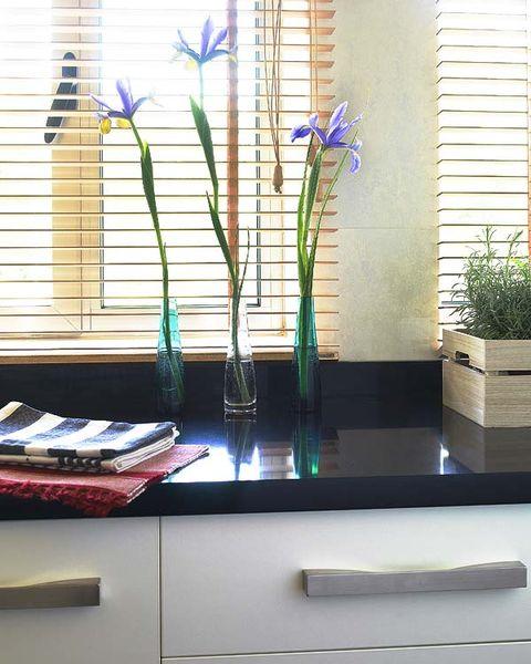 Flower, Interior design, Flowering plant, Petal, Purple, Vase, Flowerpot, Artifact, Cut flowers, Plant stem,