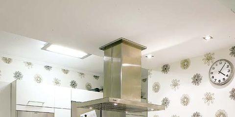 Room, Floor, Interior design, Green, Architecture, Plumbing fixture, Flooring, Property, White, Light fixture,