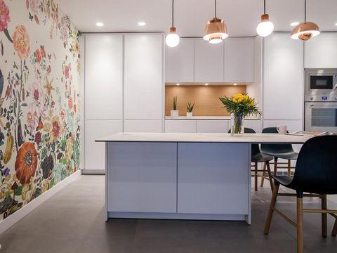 Floor, Lighting, Interior design, Product, Flooring, Room, Wall, Ceiling fixture, Light fixture, Ceiling,