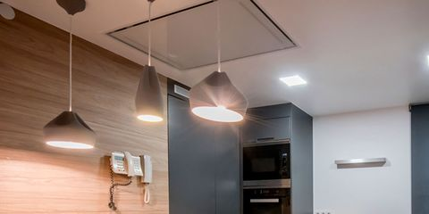 Lighting, Room, Interior design, Table, Light fixture, Furniture, Floor, Ceiling, Ceiling fixture, Glass,