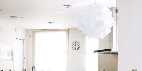 Room, Floor, Product, Interior design, Furniture, Table, Flooring, White, Light fixture, Ceiling,