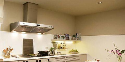 Room, Interior design, Floor, White, Furniture, Kitchen, Interior design, Flooring, Home, Cabinetry,