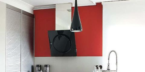 Product, Room, Kitchen, Major appliance, Grey, Kitchen appliance, Home appliance, Kitchen appliance accessory, Interior design, Loudspeaker,