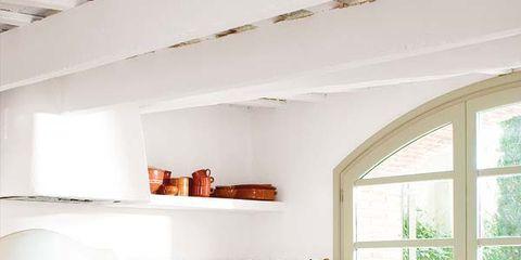 Room, Interior design, Floor, Ceiling, Wall, Home, Flooring, Orange, Cabinetry, Interior design,