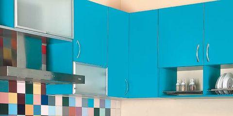 Una Cocina En Color Turquesa