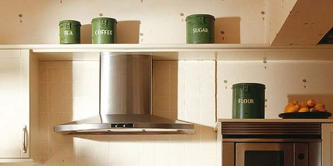 Green, Wood, Room, White, Kitchen, Floor, Flooring, Drawer, Line, Cabinetry,
