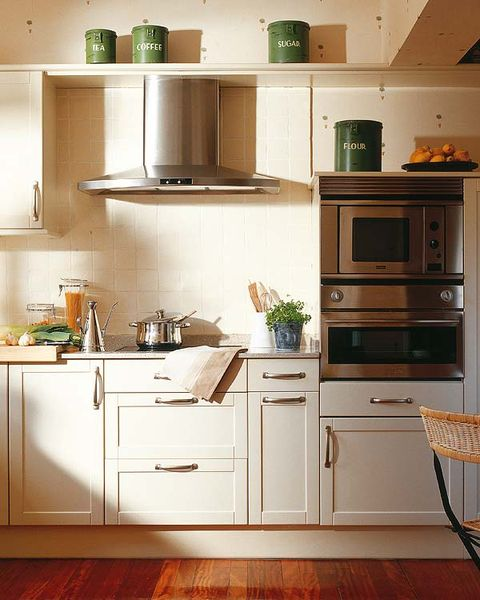Green, Wood, Room, White, Kitchen, Floor, Flooring, Drawer, Line, Cabinetry,