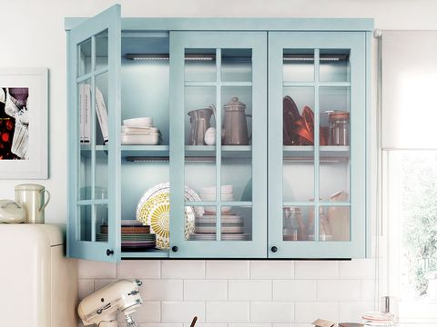 Room, Interior design, Wall, Fixture, Interior design, Turquoise, Teal, Display case, Peach, Natural material,